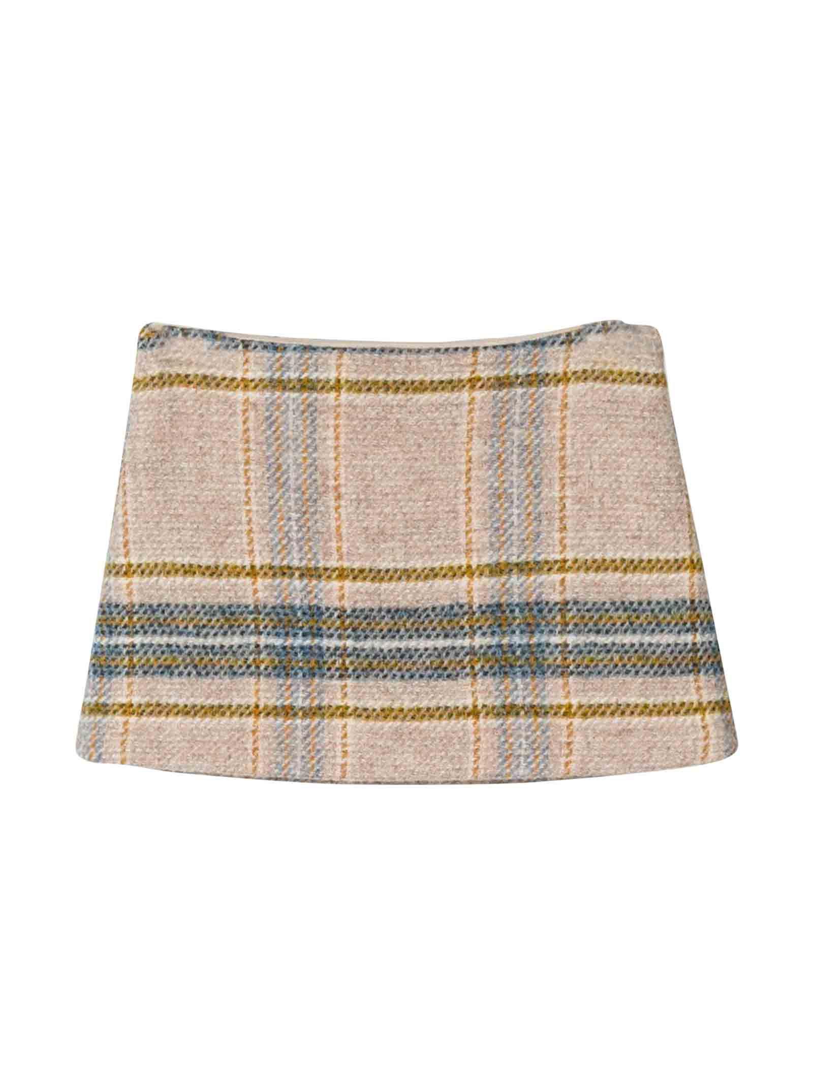 Il Gufo Beige Skirt Kids