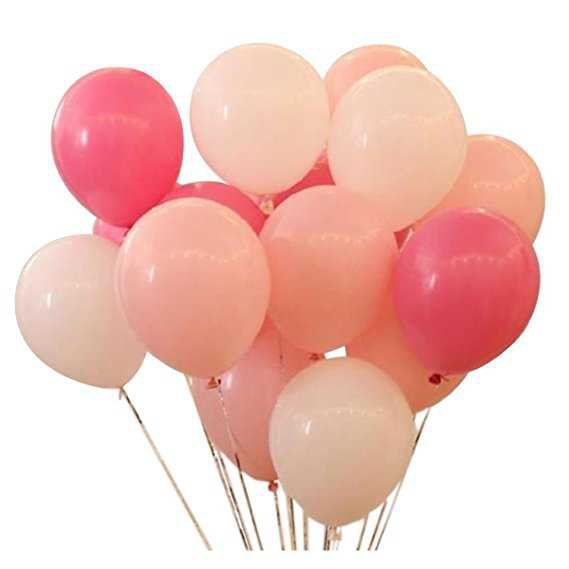 Amazon.com: KADBANER Latex balloon 100 pcs 12 inch : white and light pink and rose red latex balloons: Toys & Games