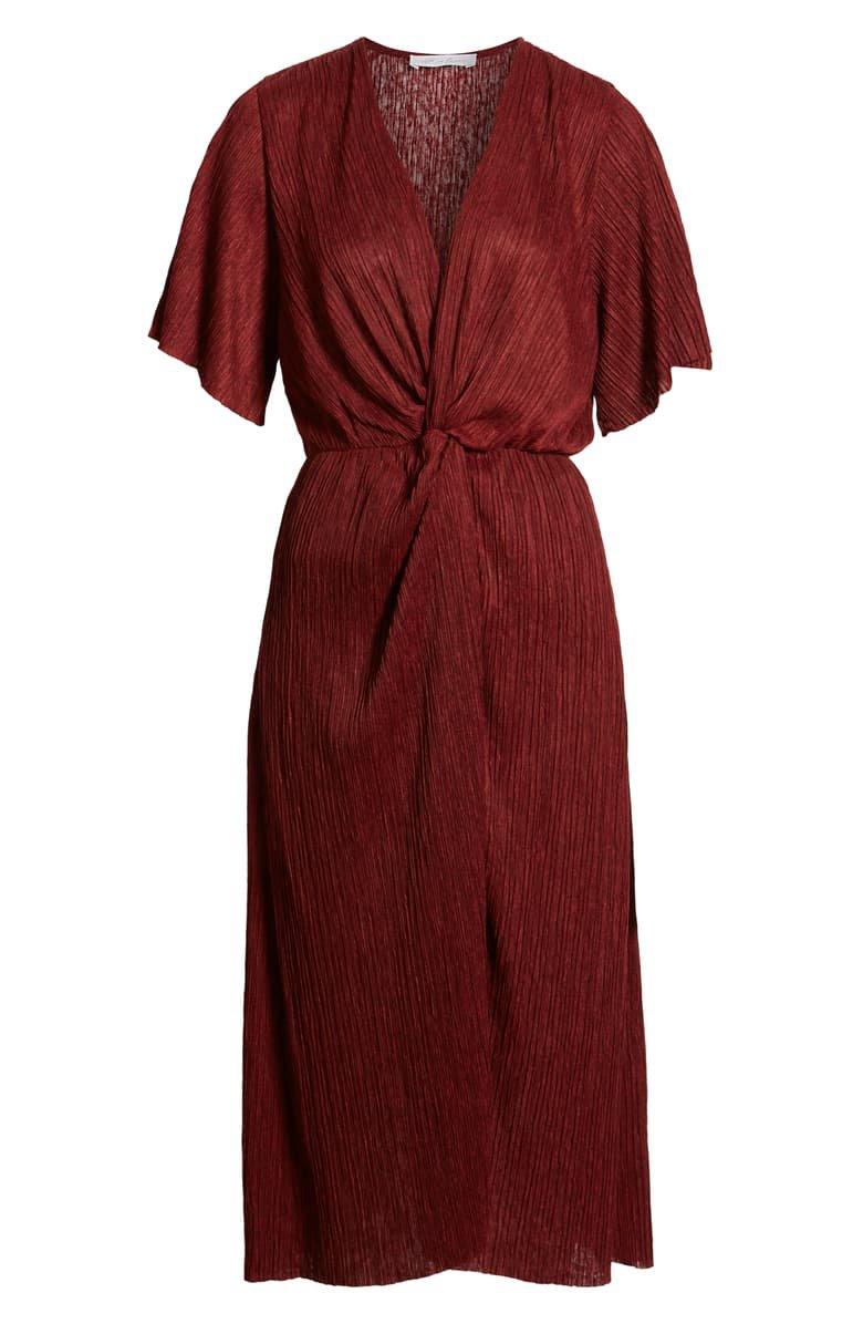 All in Favor Dolman Plissé Midi Dress | Nordstrom