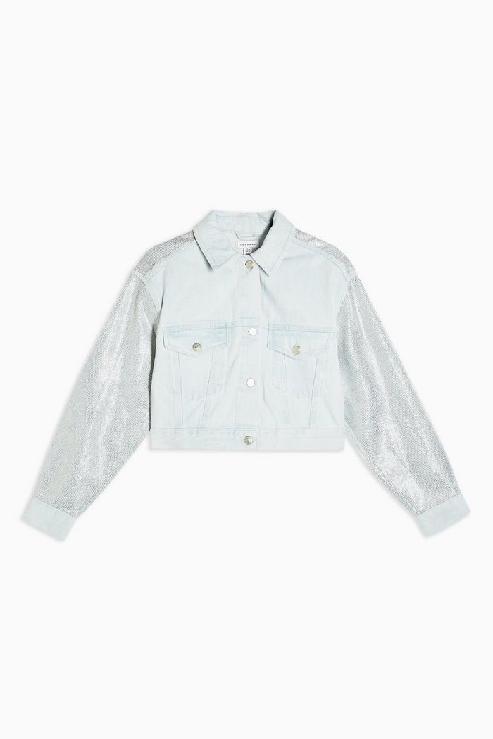 Crystal Bleach Denim Jacket | Topshop