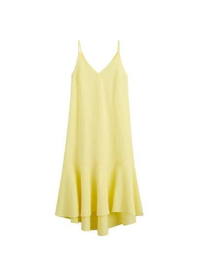 MANGO Frill cotton dress