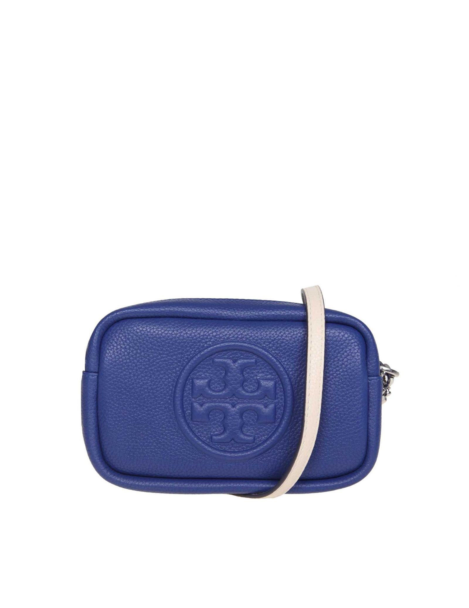 Tory Burch Shoulder Strap Perry Bombé Mini In Bluette Color Leather