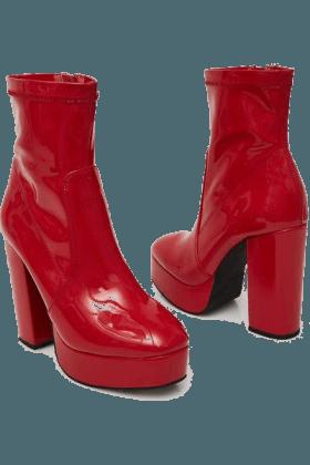 Shinin' Like a Ruby Ankle Boots