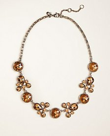 Crystal Statement Necklace   Ann Taylor
