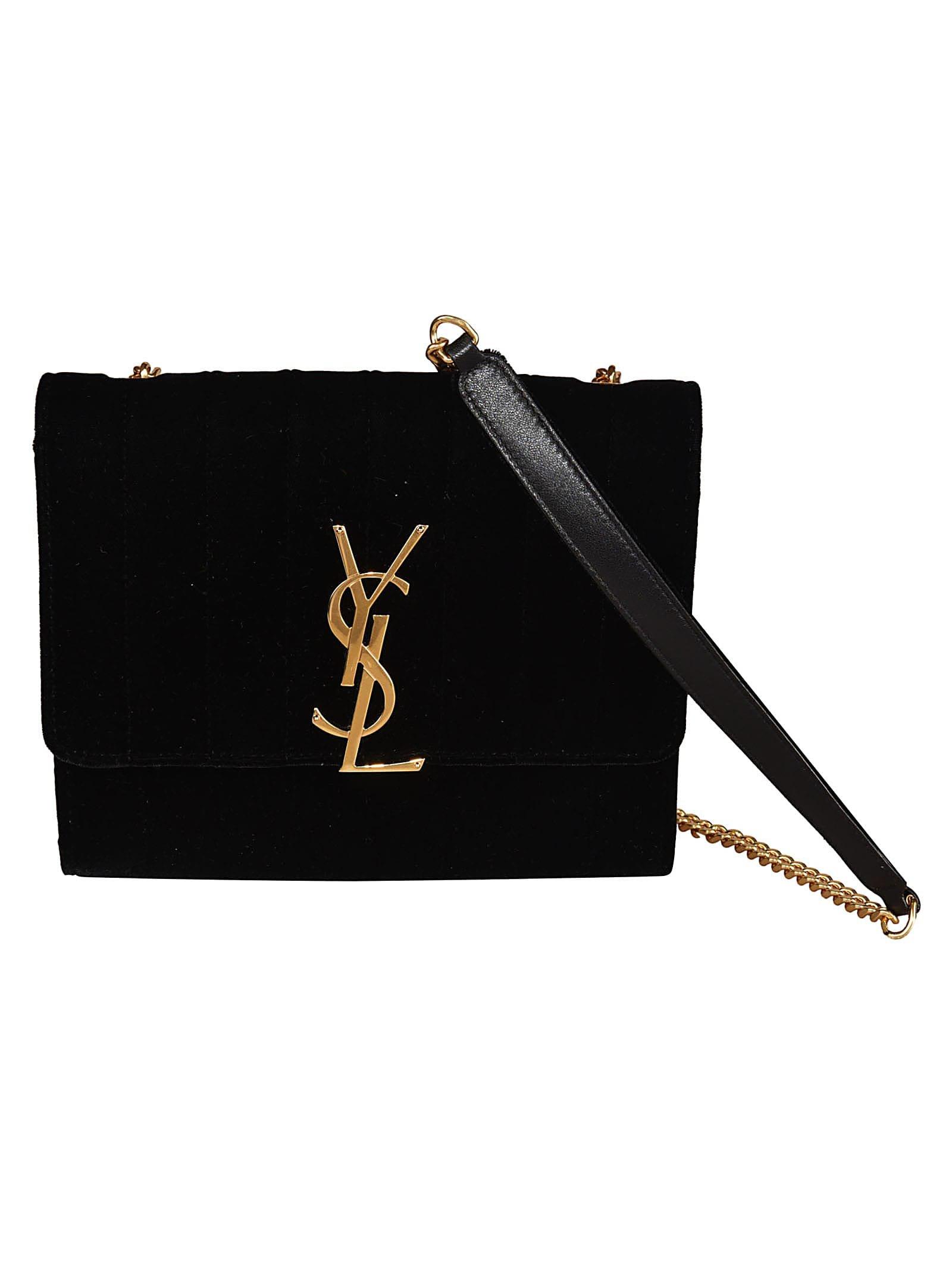 Saint Laurent Logo Plaque Shoulder Bag