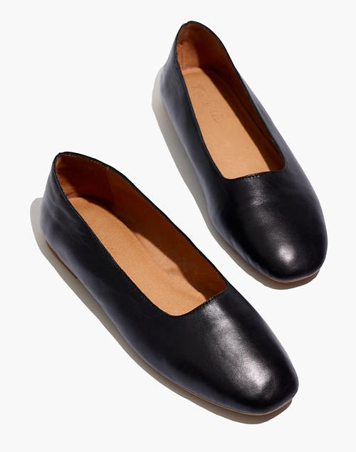 The Cory Flat in Leather black