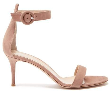Portofino 70 Suede Sandals - Womens - Nude