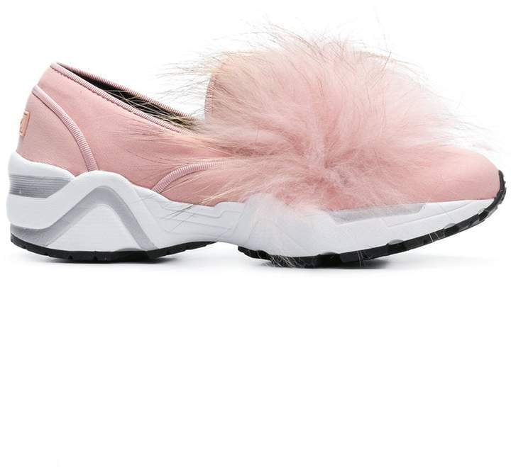 Suecomma Bonnie fur detail sneakers