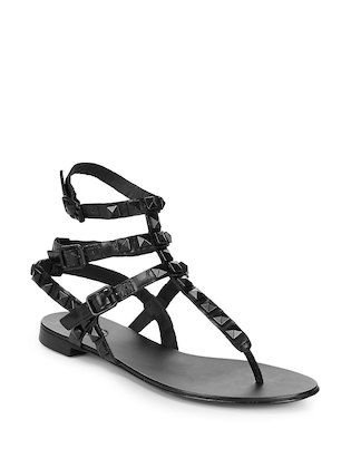 Ash Women's Mumbaia Leather Stud Sandals