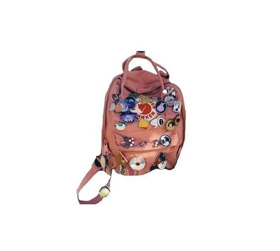 fjallraven kanken backpack with pins