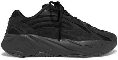 Yeezy Boost 700 V2 Mesh And Suede Sneakers - Black