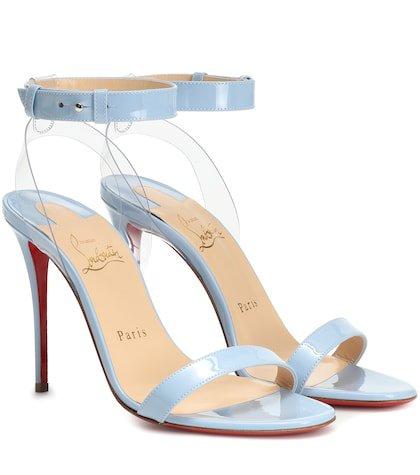 Jonatina 100 patent leather sandals