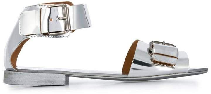 patent buckle sandals