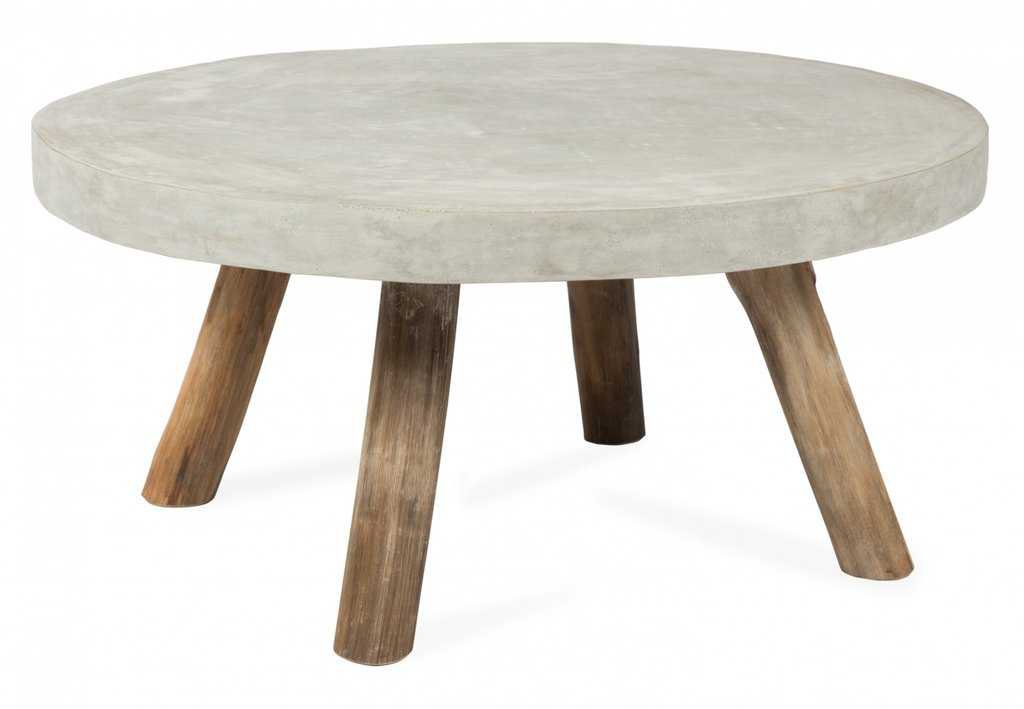 Concrete Round Coffee Table; Concrete Round Coffee Table