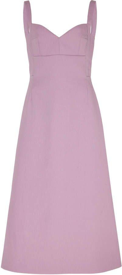 Emilia Wickstead Strap Crepe Dress Size: 8