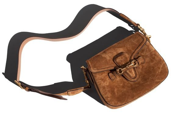 Suede Gucci shoulder bag