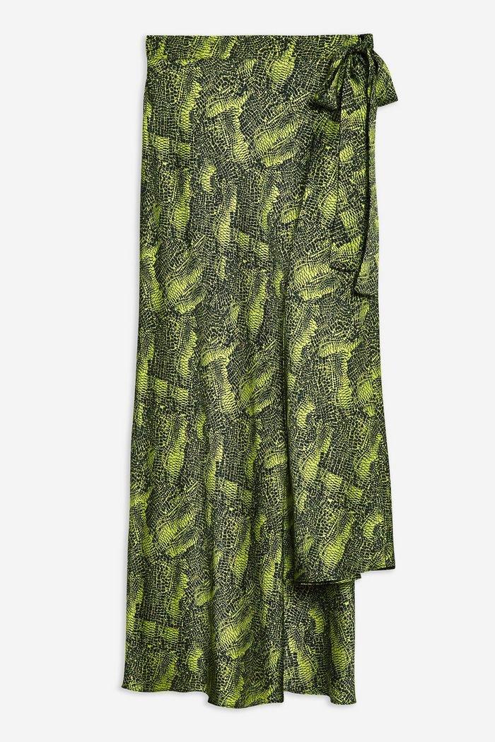 **Alligator Bias Skirt by Boutique | Topshop green
