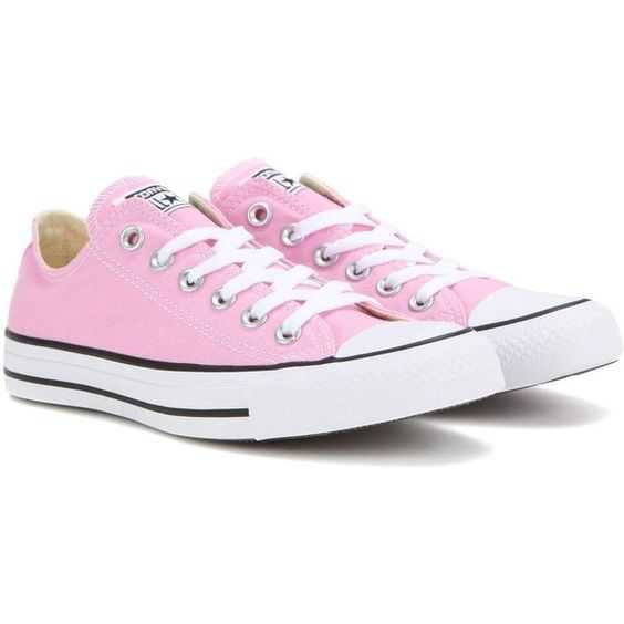 Converse Chuck Taylor All Star OX Sneakers ($75) ❤ liked on Polyvore featuring shoes, sneakers, pink, converse sneakers, star shoes, converse shoes, star sneakers and converse trainers
