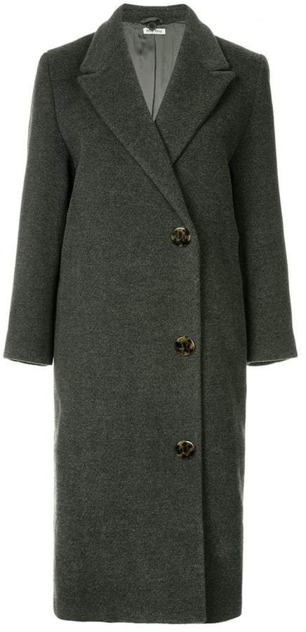 Pre-Owned double breasted midi coat