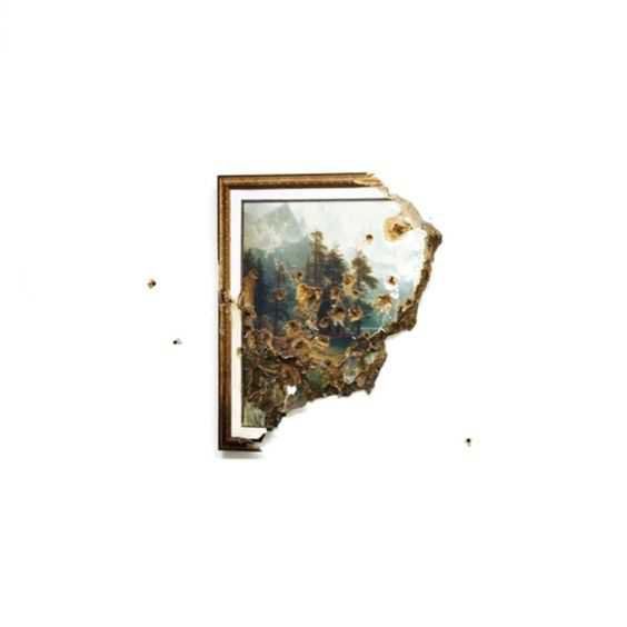 broken picture frame