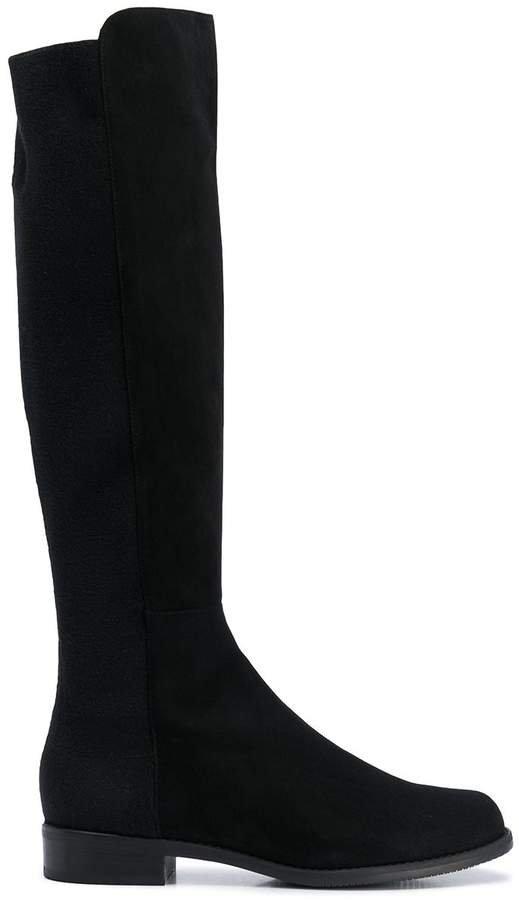 HalfNHalf knee-high boots