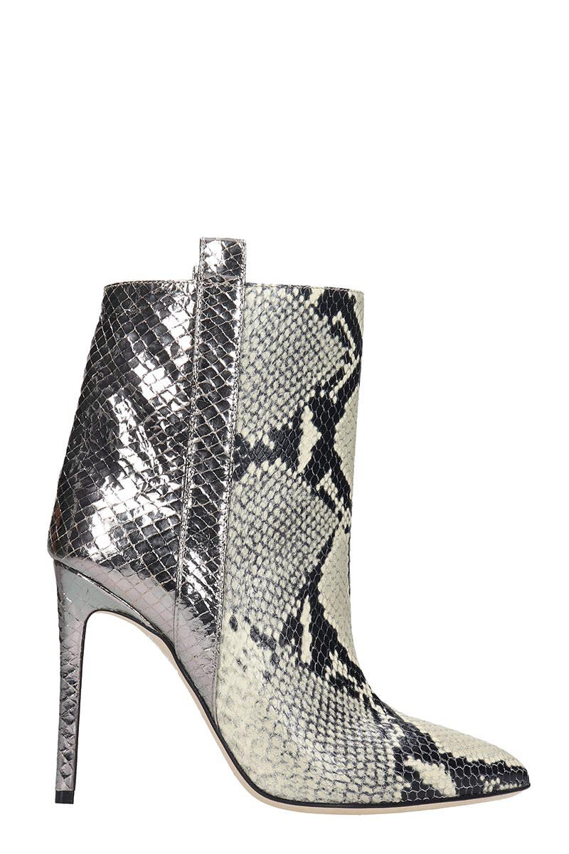 Paris Texas Ankle Boots In Silver Leather
