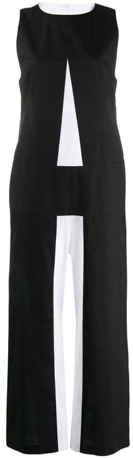 A colour block jumpsuit