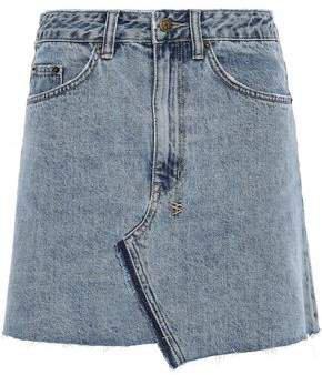 Distressed Denim Mini Skirt