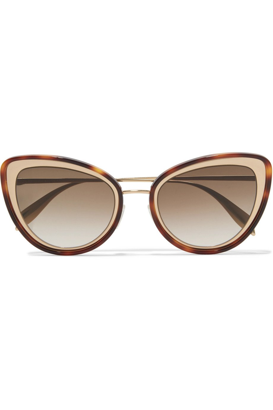 Alexander McQueen | Cat-eye tortoiseshell acetate and gold-tone sunglasses | NET-A-PORTER.COM