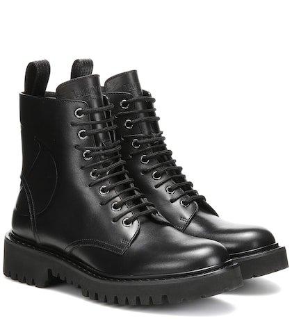 Valentino Garavani VLOGO leather ankle boots