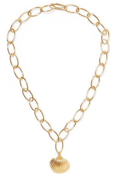 Aurélie Bidermann | Fortaleza gold-plated necklace | NET-A-PORTER.COM
