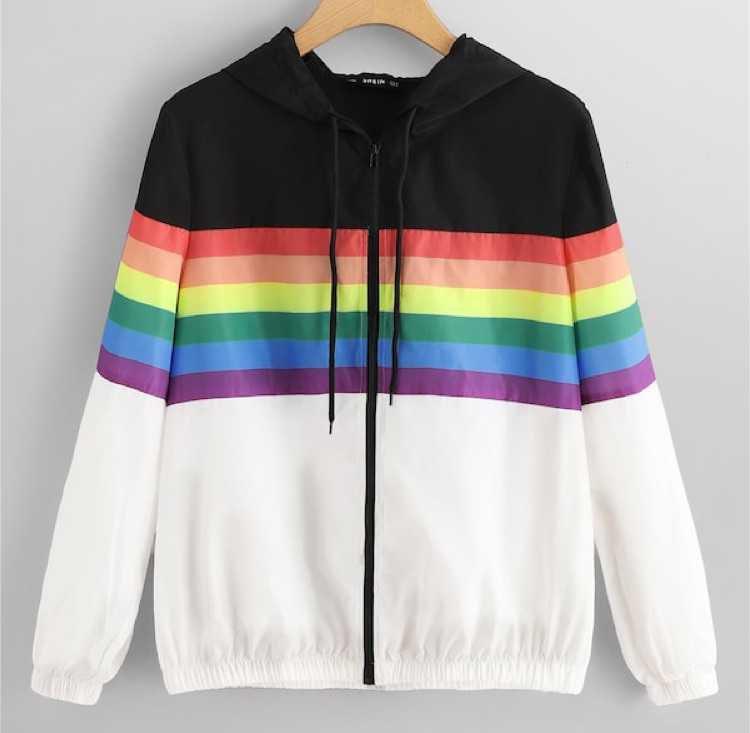 Rainbow Zip-Up Jacket