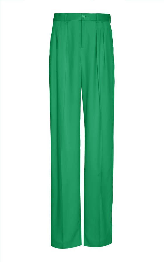 Ferra Silk High-Rise Wide-Leg Pants