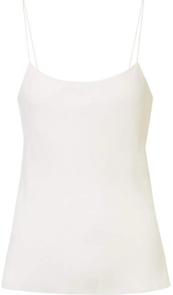 Biggins Stretch-silk Crepe De Chine Camisole - Ivory