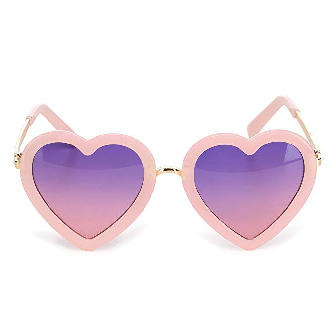 Amazon.com: CMK Trendy Kids Trendy Heart Shaped Sunglasses for Toddler Girls Age 3-10 (62015_pink): Clothing