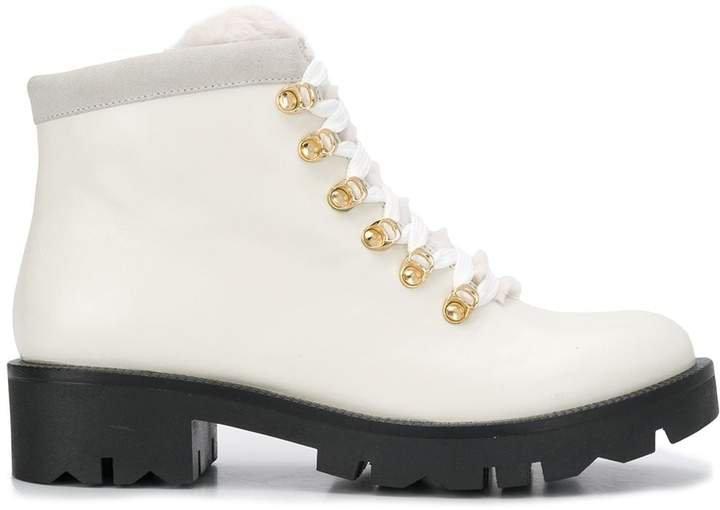 lace-up trek boots