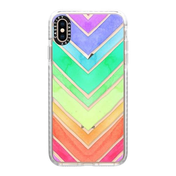 Rainbow Watercolor Chevron – Casetify