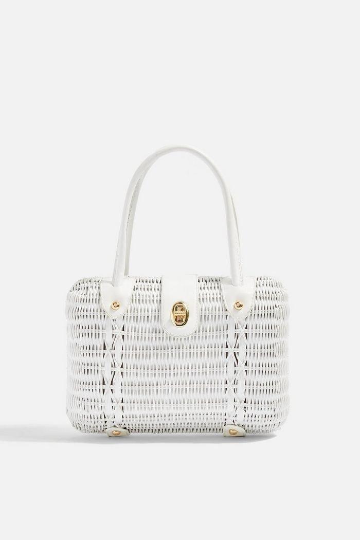 FLUX White Wicker Straw Grab Bag | Topshop