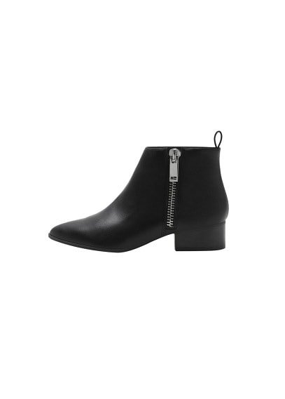 MANGO Zipped detail ankle boots