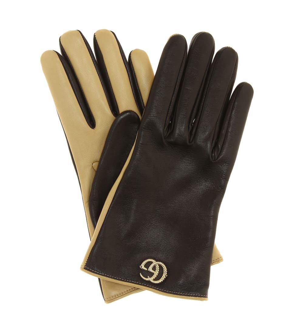 Gucci - Leather gloves   Mytheresa