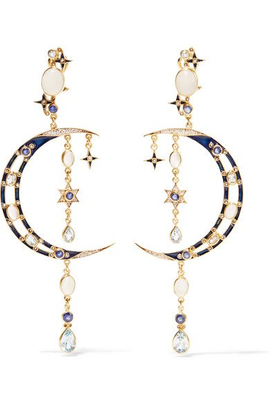 Percossi Papi | crescent moon earrings