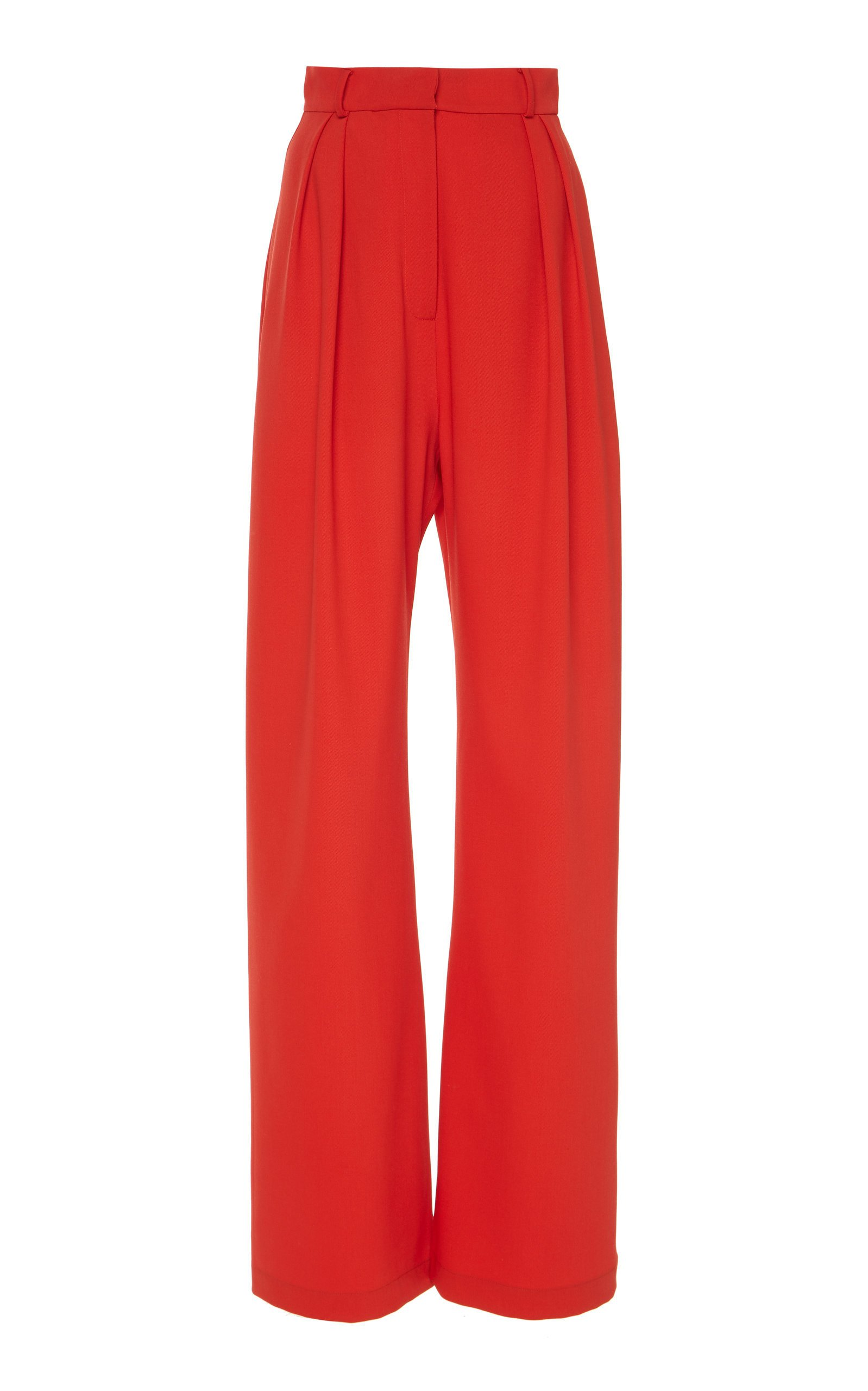 MATÉRIEL Wide Leg Wool-Blend High Waisted Pants