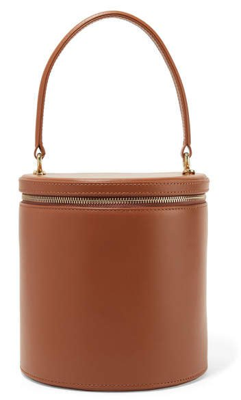 STAUD - Vitti Leather Tote - Brown
