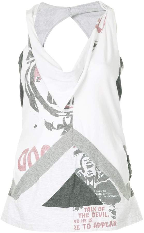 Junya Watanabe Pre-Owned deconstructed tank top