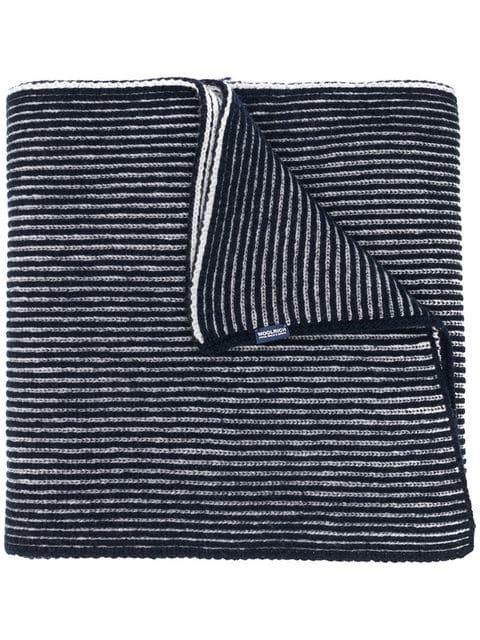 Woolrich striped pattern scarf