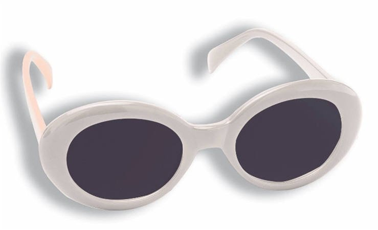 1960's White Mod Tinted Glasses