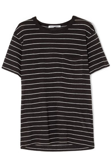 alexanderwang.t | Striped slub jersey T-shirt | NET-A-PORTER.COM