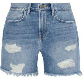 Stevie Distressed Denim Shorts