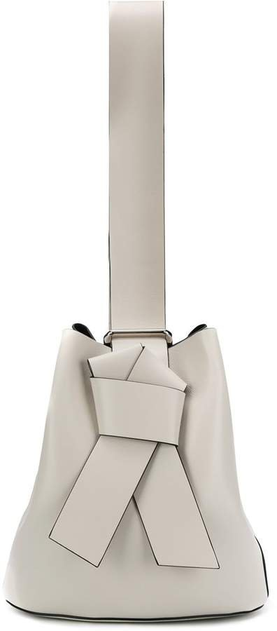 structured ribbon tote bag