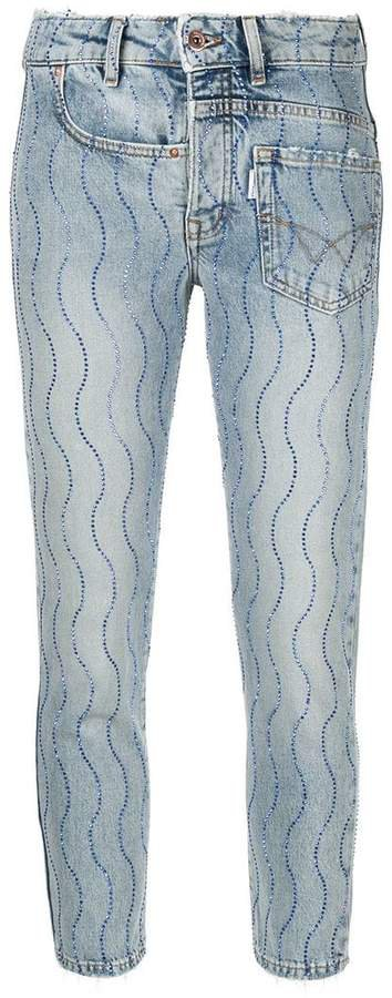 Crystal Wave skinny jeans